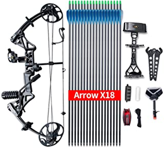 """Compound Bow Topoint Archery Package M1, 19""""-30"""" Draw Length,19-70Lbs Draw Weight,320fps IBO Limbs Made in USA"""