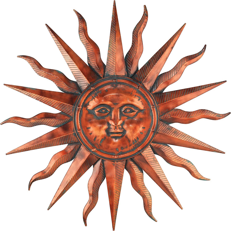 Regal Art &Gift Copper Patina Sun 40