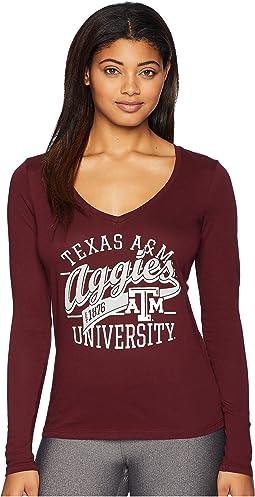 Texas A&M Aggies Long Sleeve V-Neck Tee