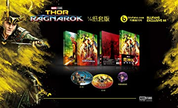 THOR RAGNAROK Blu-ray 3D Steelbook [Blufans Collection Quarter 1/4 Slip Region-Free Limited Edition]