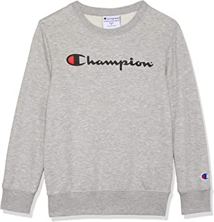 Champion Kids Script Crew Pullover Sweat