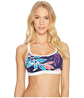 IslandActive Graphic Tropics Banded Scoop Bikini Bra
