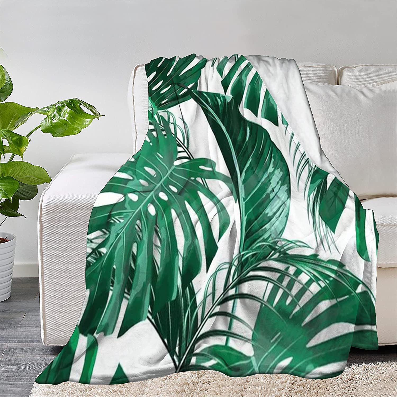 FUNDESIGN Leaves Flannel Throw Blanket Ultra M Soft Free Shipping Cheap Bargain Gift Over item handling ☆ Lightweight