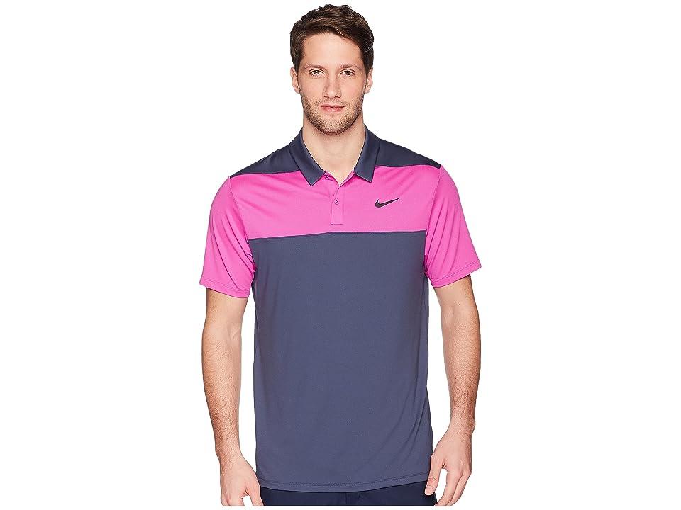Nike Golf Color Block Dry Polo (Thunder Blue/Hyper Magenta/Black) Men