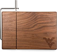 NCAA West Virginia Mountaineers Meridian Black Walnut Cutting Board with Cheese Slicer