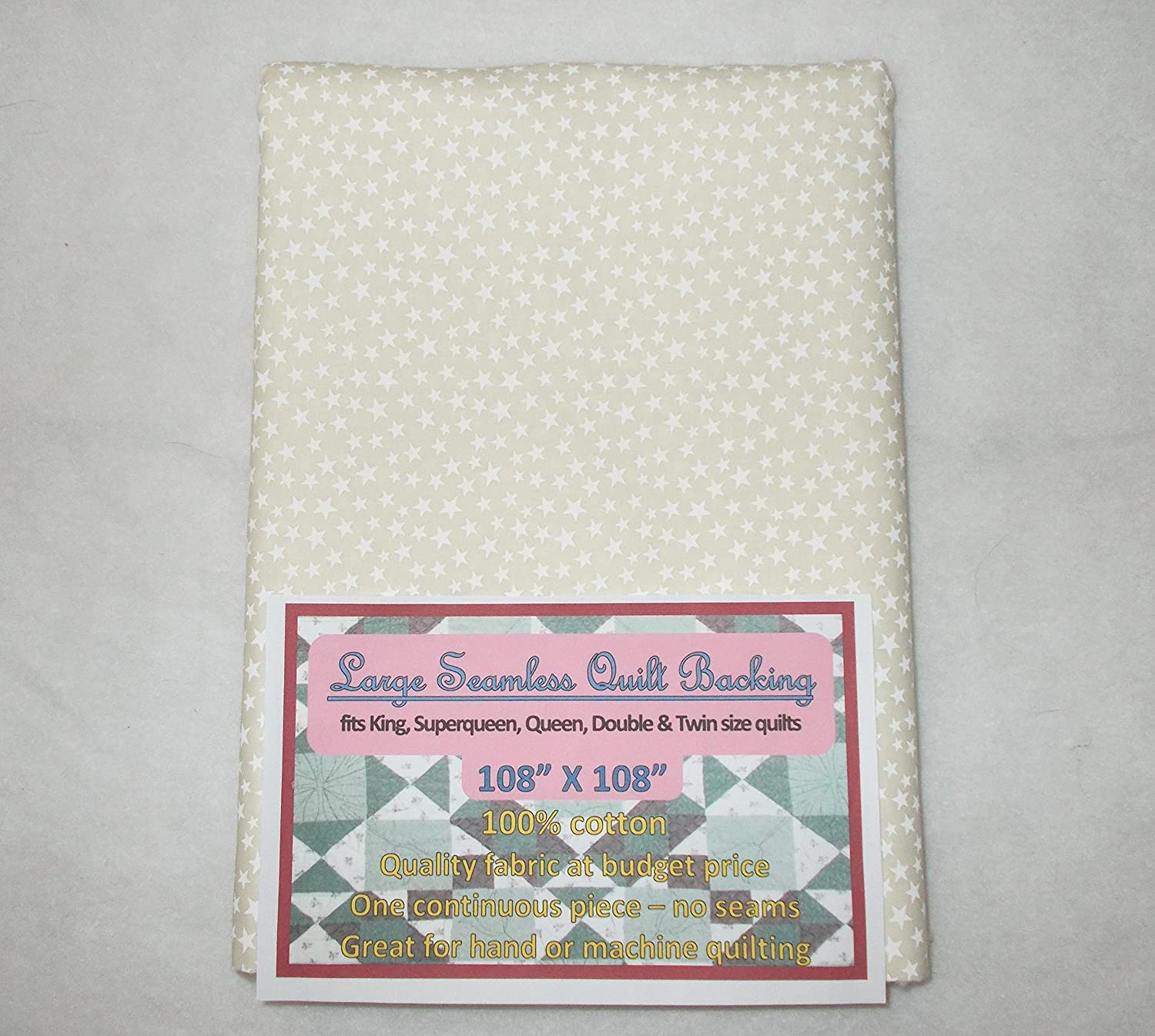 Quilt Backing Large Ranking TOP10 Seamless White C491 Small on Rare Stars Cream