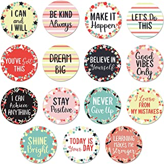 Sweetzer & Orange 30 Growth Mindset Confetti Positive Sayings Accents   Motivational Wall Art Inspirational Quote Cards wi...