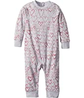 Stella McCartney Kids - All Over Hearts Fleece One-Piece (Infant)