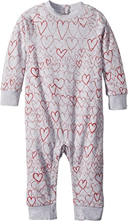 All Over Hearts Fleece One-Piece (Infant)