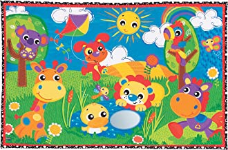 Playgro 0186364139 Party in The Park Super Mat for Baby Infant Toddler Children, Playgro is Encouraging Imagination with STEM/STEM for a Bright Future - Great Start for a World of Learning