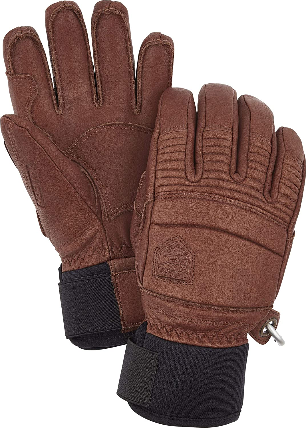 Hestra Leather Fall Line - Short Freeride 5-Finger Snow Glove with Superior Grip for Skiing, Snowboarding and Mountaineering