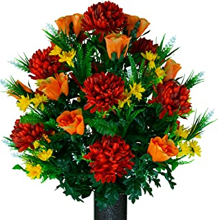 Best artificial flower arrangements for cemetery Reviews
