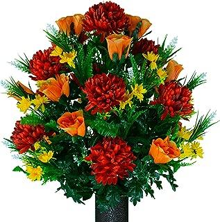 Best artificial flower arrangements for cemetery Reviews