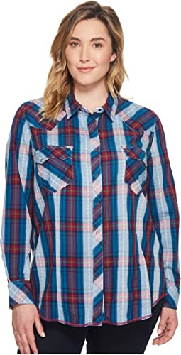 Roper Plus Size 1253 Cider Check