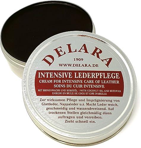 DELARA Entretien intensif du Cuir, Couleur: Noir, 75 ML - Imprègne et protège Le Cuir très efficacement, Nouvelle For...