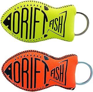 Best DriftFish Floating Neoprene Boat Keychain Key Float | Jumbo Size | Float 5 to 6 Keys | Proudly American Made | Waterproof Key Chain | Green and Orange Review