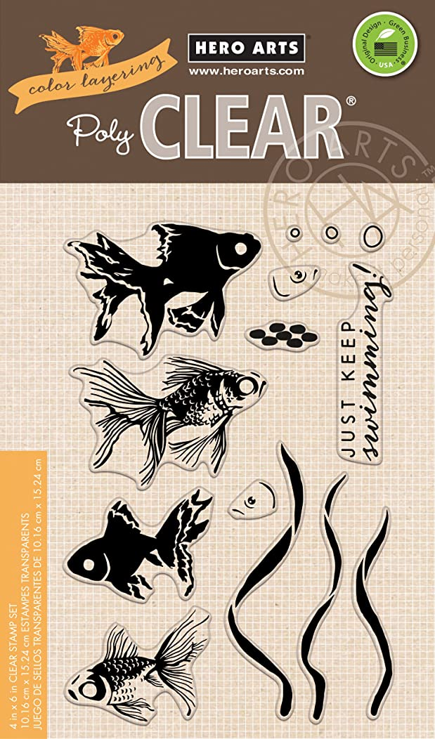 Hero Arts Color Layering Goldfish Clear Stamps