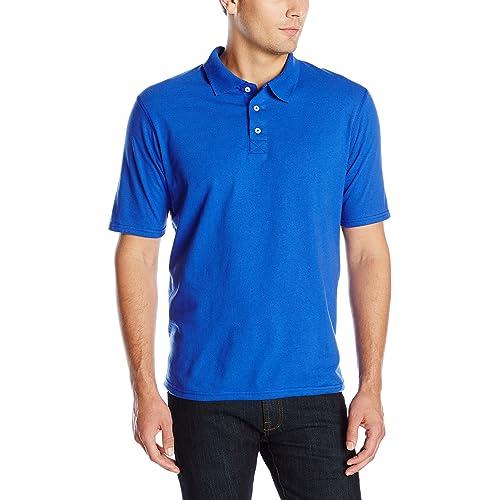 406e408a Hanes Men's X-Temp Performance Polo Shirt (1 Pack or 2 Pack)