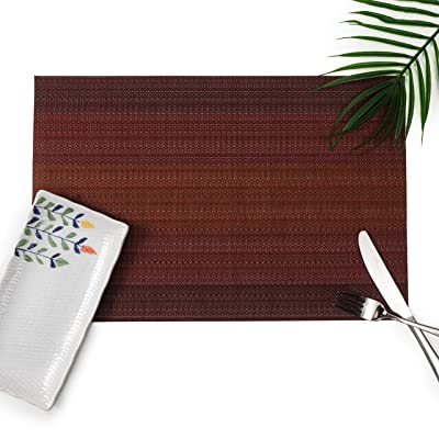 Millie Home Placemats for Dining Table Vinyl He...