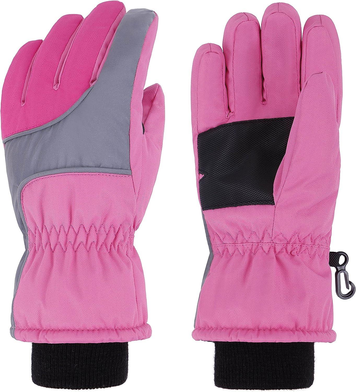 Simplicity Kid's Cotton Windproof Waterproof Snow Ski Gloves