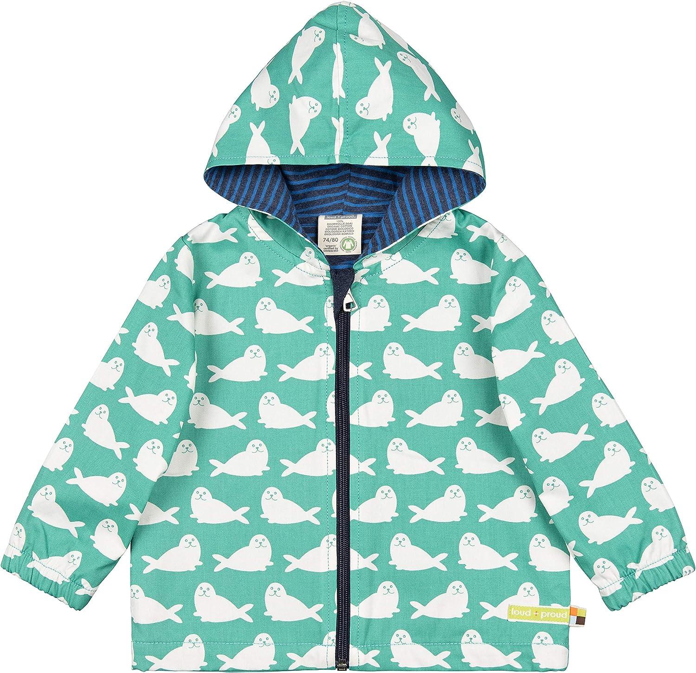 proud Wasserabweisende Jacke aus Bio Baumwolle GOTS Zertifiziert Giacca Unisex-Bimbi loud