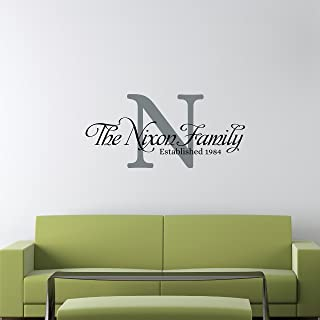 Custom Family Name Wall Decal - Personalized Name Wall Sticker - Custom Name Wall Sign - Monogram Stencil