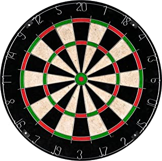 Bristle Dart Board, Tournament Sized Indoor Hanging Number Target Game for Steel Tip..