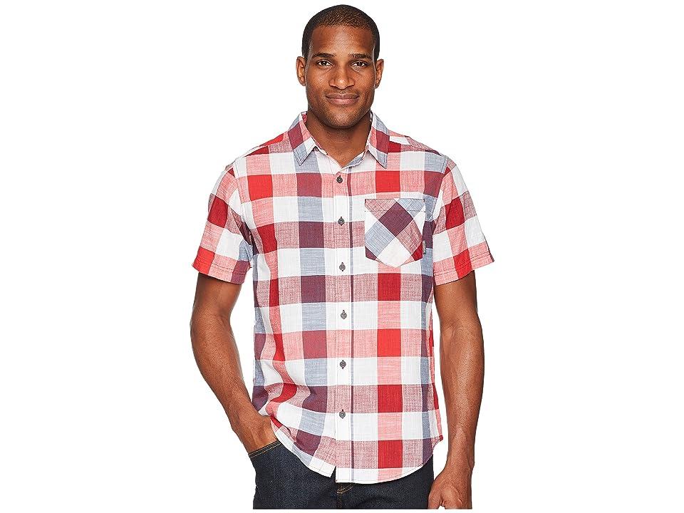 Columbia Katchortm II S/S Shirt (Red Spark Large Check) Men