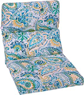 Brylanehome Universal Chair Cushion - Paisley Doodle Blue