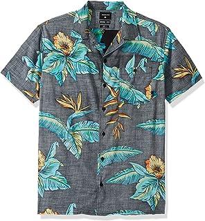 قميص رجالي Quiksilver مطبوع عليه صورة كامب منسوج