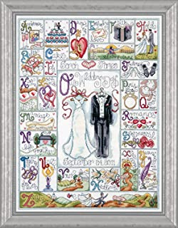 Design Works - Wedding ABC Sampler - Counted Cross Stitch Kit with Gift Card