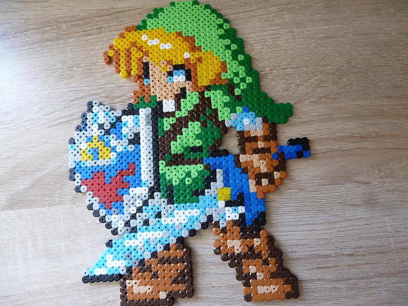 Sprite of Link ? The Legend of Zelda (Majora's mask, Twillight princess, Ocarina of time, four sword.) ? Hama Beads ? Pixel Art