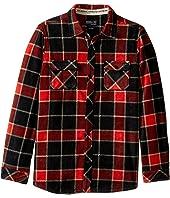 O'Neill Kids - Glacier Big Plaid Long Sleeve Shirt (Big Kids)
