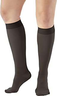 Ames Walker AW Style 300 Medical Support 30 40mmHg CT Knee Highs Black MD