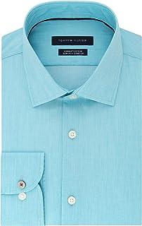 Tommy Hilfiger Men's Dress Shirt Stretch Slim Fit Solid
