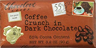 Chocolove Coffee Crunch in Dark Chocolate, 3.2 Ounce (Pack of 12)