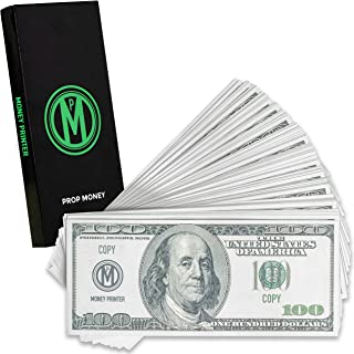 Money Printer, 100 Dollar Bills Prop Money, Premium Quality Play Money, Pack of 100 Bills, Copy