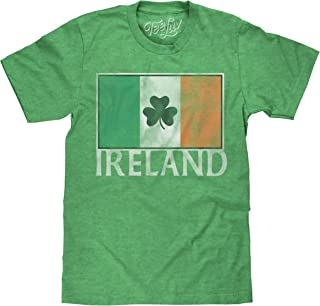 Tee Luv Ireland Shamrock T-Shirt - Irish Flag Shirt (Green)