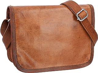 Gusti Kleine Leder - Summer S Handtasche Umhängetasche Echt Leder Vintage Braun