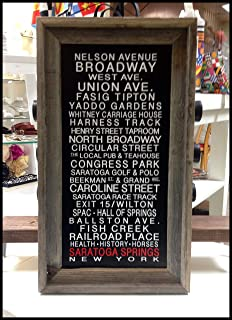 Saratoga Springs - Belmont Park - Saratoga Race Course - Arlington Park - OR Choose Your Own Race Track Bus Roll Print Framed in Barnwood by SaratogaRocks™