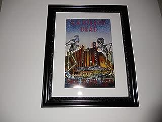 Cleveland Vinyl Large Framed Grateful Dead Radio City 1980 NYC Halloween Poster 24