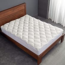 (California King) - Cheer Collection Ultra Plush Eco-friendly Hypoallergenic Bamboo Fitted Mattress Topper - California King