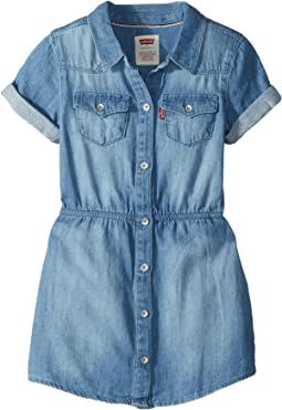 Short Sleeve Western Dress (Little Kids)