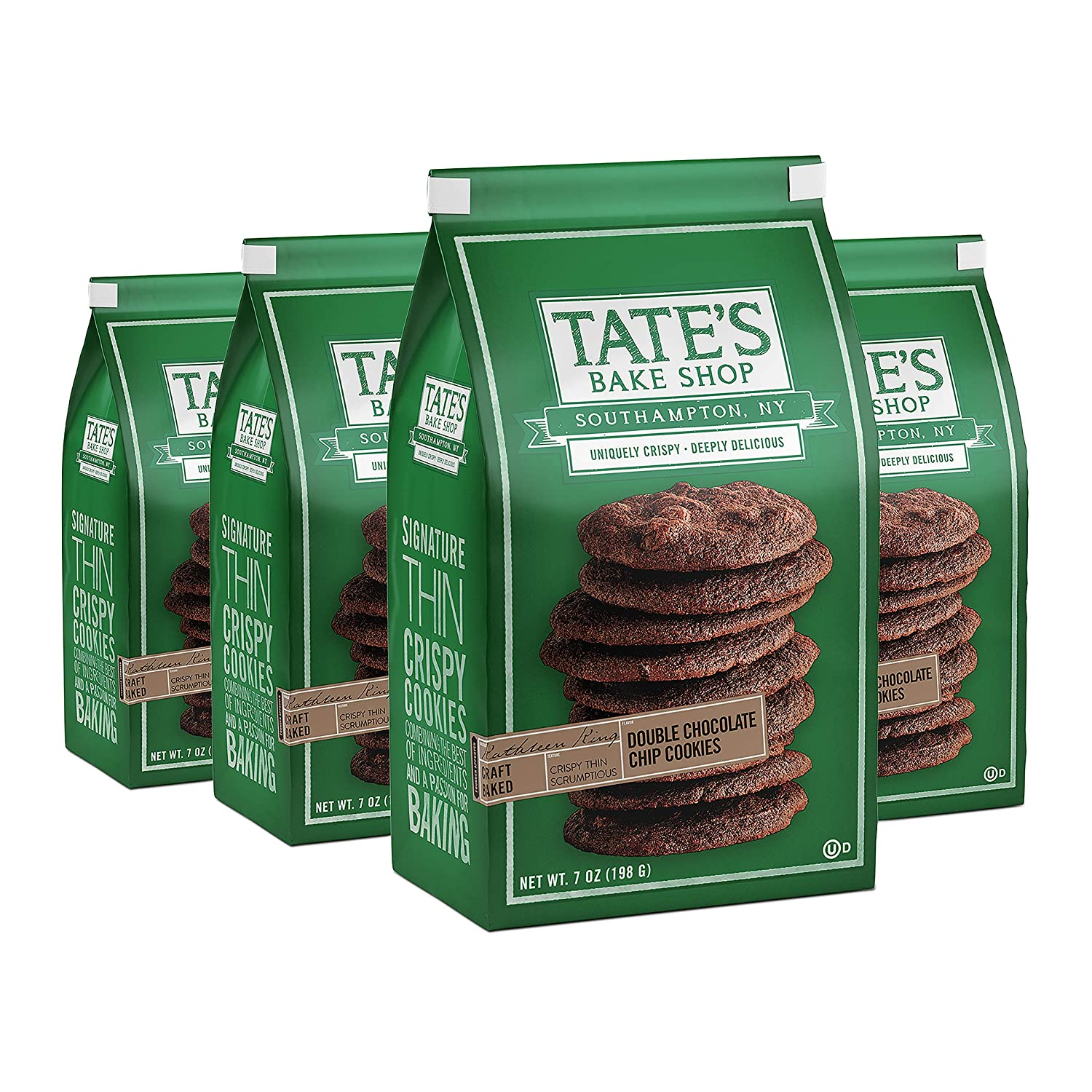 safety Tate's Bake Shop Double Chocolate Chip free shipping oz - Cookies 7 4 Bags
