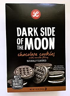 Dark Side of the Moon Chocolate Cookies with Vanilla Filling. ONE (1) 20 oz box. Naturally Flavored. Crispy Chocolate Sandwich Cookies.