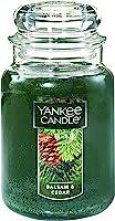 YANKEE CANDLE 1062314Z Company Balsam & Cedar Large Jar Candle Green