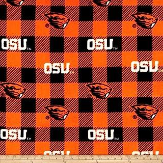Sykel Enterprises NCAA-Ohio State 1190 Buffalo Plaid Fleece Multi Fabric by the Yard