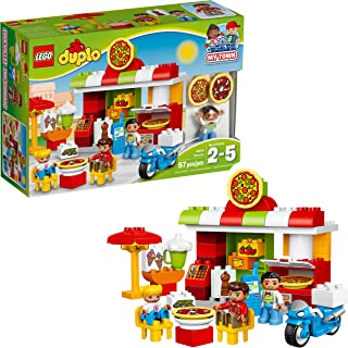 LEGO DUPLO My Town Pizzeria 10834, Preschool, Pre-Kindergarten Large Building Block Toys for Toddlers (57 Pieces)