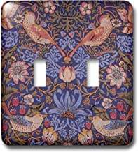 3dRose lsp_243618_2 Image of William Morris Strawberry Thief With Birds - Double Toggle Switch
