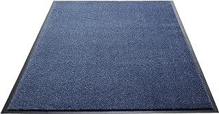 Guardian Silver Series Indoor Walk-Off Floor Mat, Vinyl/Polypropylene, 4'x6', Speckled Blue